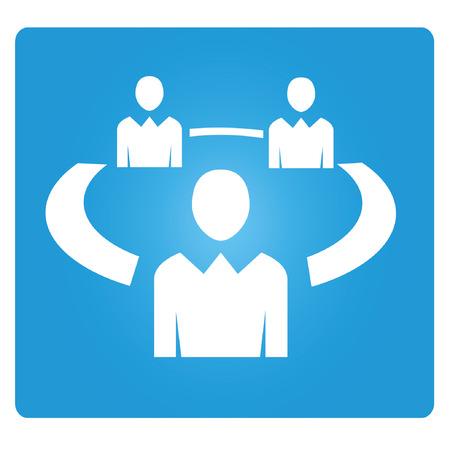 organization management Illustration