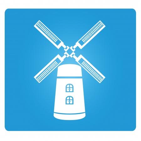 wind turbine: turbine ?olienne Illustration