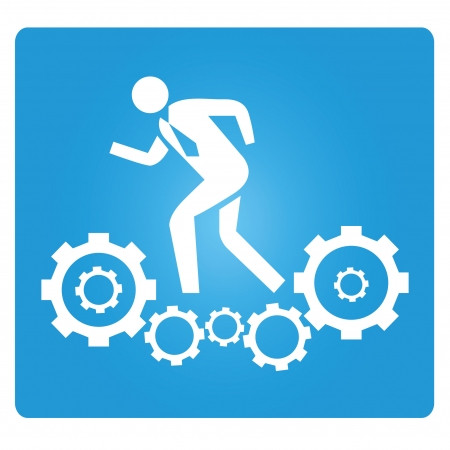 men at work sign: work force Illustration