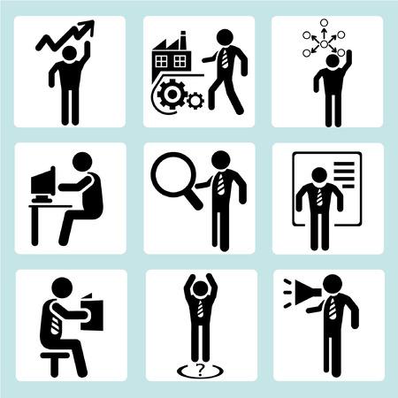 ビジネス管理、ビジネス人々  イラスト・ベクター素材