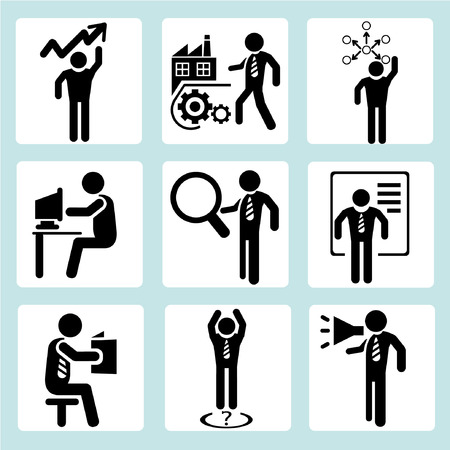 work task: business management, business people Illustration