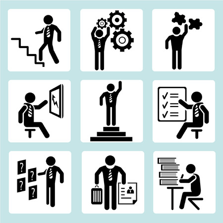 work task: business management, business people Illustration