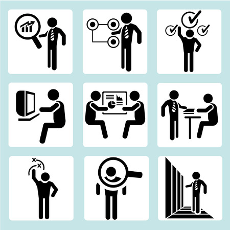 recruiters: business management, business people Illustration