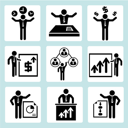 personal service: business management, business people Illustration