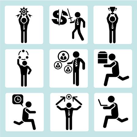 carrying box: administraci�n de empresas, gente de negocios