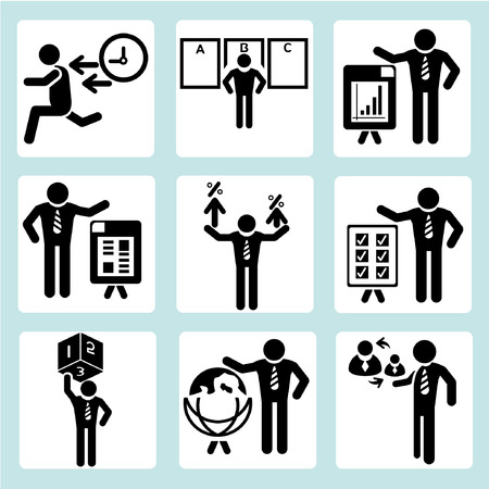 human resource affairs: business management, business people Illustration