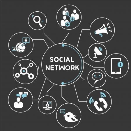trabajo social: los medios de comunicaci�n social, la cartograf�a mental de la red, informaci�n gr�fica