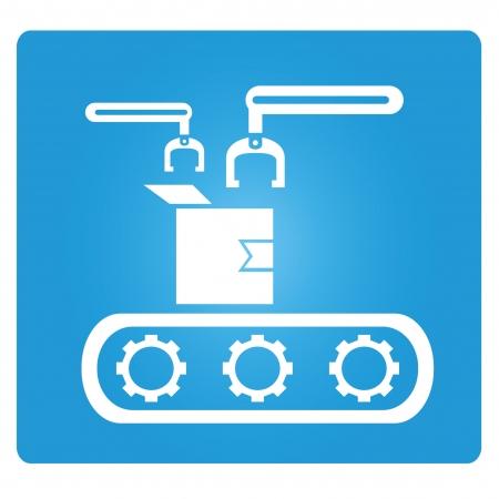industrial mechanics: l?nea de montaje Vectores