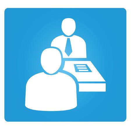 job interview: job interview Illustration