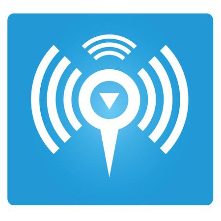 blue signage: wifi zone Illustration