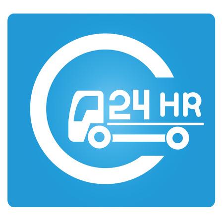 courier service: 24 hours service Illustration