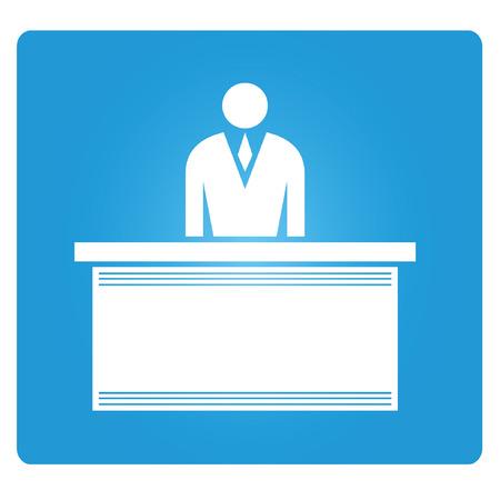 blue signage: employer