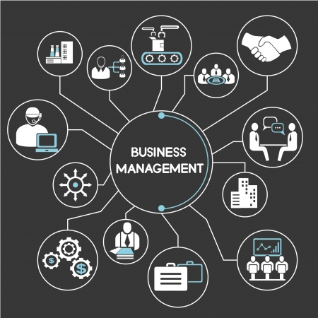business management network, mind mapping, info graphic Illustration
