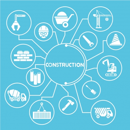 construction network, mind mapping, info graphics Vector
