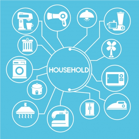 household network, mind mapping, info graphics Vector