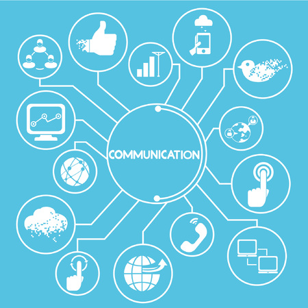 mapping: communication network, mind mapping, info graphics Illustration