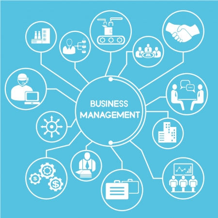 business manangement network, mind mapping, info graphics Vector