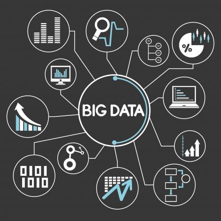 grand réseau de données, la cartographie de l'esprit, infographies