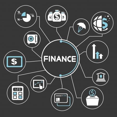 pénzügyi hálózat, mind mapping, info grafika