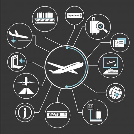 공항 네트워크, 마인드 매핑, 정보 그래픽