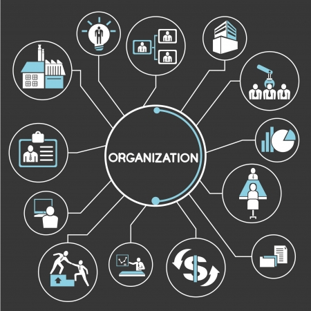 organization network, mind mapping, info graphics Vector