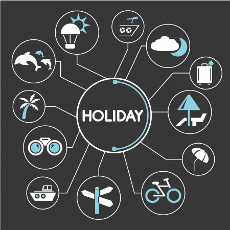 holiday mind mapping, info graphic Vector