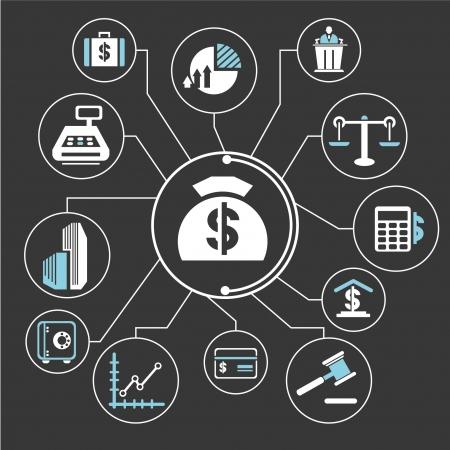 Bid: financial management mind mapping, info graphic Illustration