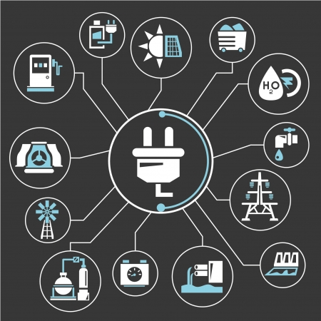 mind mapping de gestion de l'énergie, l'information graphique