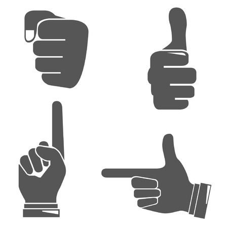 pointing up: hands Illustration