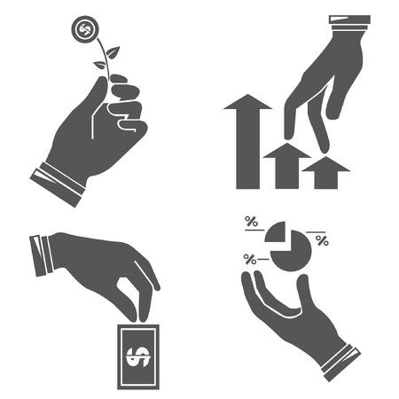 benefits: hands, investment concept