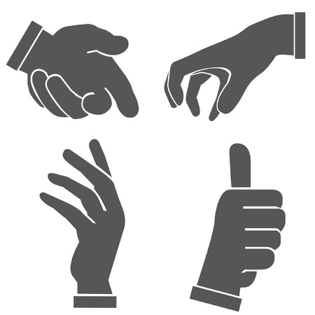 pick: hand set, hand sign Illustration