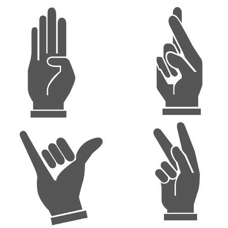 little finger: hand set, hand sign Illustration
