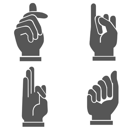 swear: hand set, hand sign Illustration