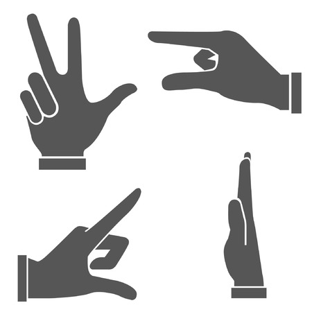 hand set, hand sign Illustration