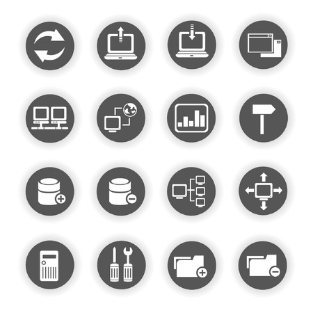 network icons, database icons Vector