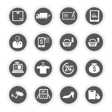 e commerce: e commerce iconen, marketing pictogrammen
