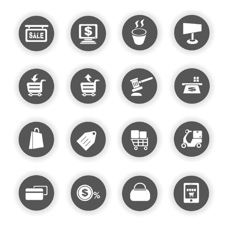 e commerce: e commerce icons, business icons