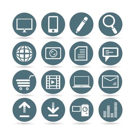 handy cam: web buttons, app buttons set Illustration
