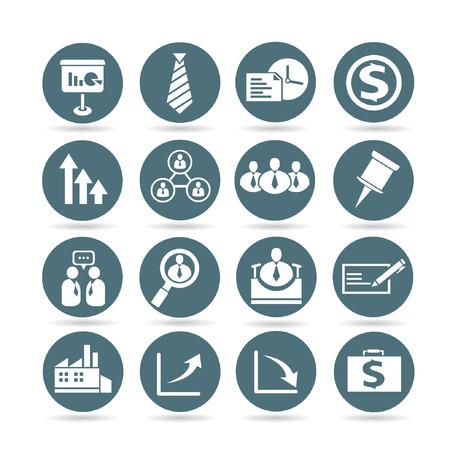 business management icons, web buttons, app buttons set Vector