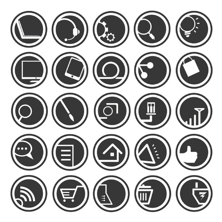 web icons, buttons Vector