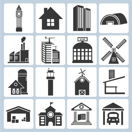building icons Stock Vector - 23229128