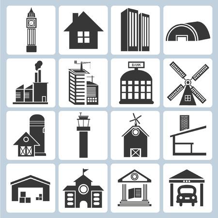 edificio escuela: iconos de construcci�n
