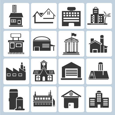 building icons Stock Vector - 23229131