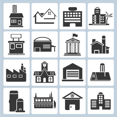 architecture pictogram: building icons