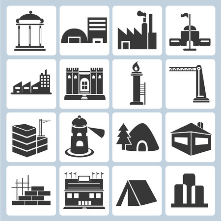 building icons Stock Vector - 23229132