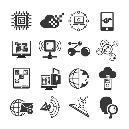 share icon: communication and network icons