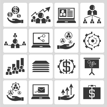 human resource affairs: investment and financial icons