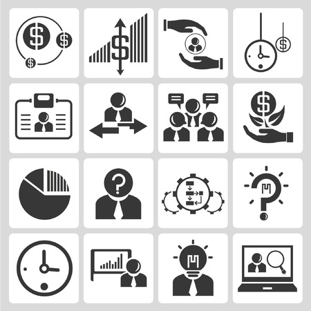 allocation: business and financial icons Illustration