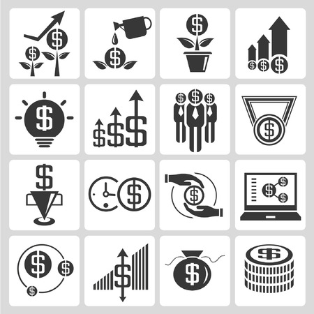 allocation: investment and financial icons