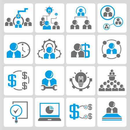 allocation: human resoure and business icons